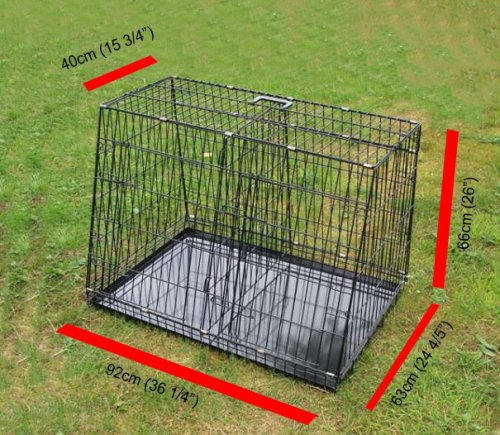 Double Car Dog Cage Medium