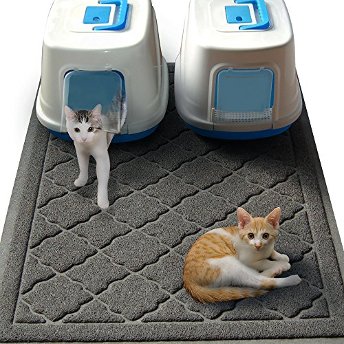 Easyology Jumbo Size Cat Litter Mat Best Extra Large Scatter Control Kitty Litter Mats for Cats Tracking Litter Out of Their Box Soft To Paws Patent Pending