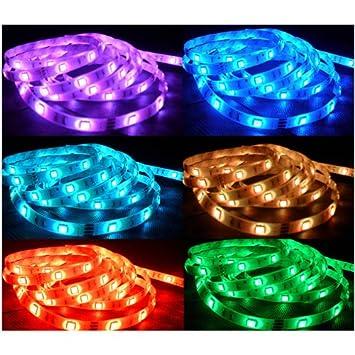 3m led strip rgb 5050 mehrfarbig fernbedienung licht beleuchtung lampe dc125. Black Bedroom Furniture Sets. Home Design Ideas