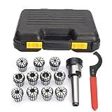 MT3 Shank With 11PC ER32 Collet Set ER32 Chuck & Spanner For Milling Machine