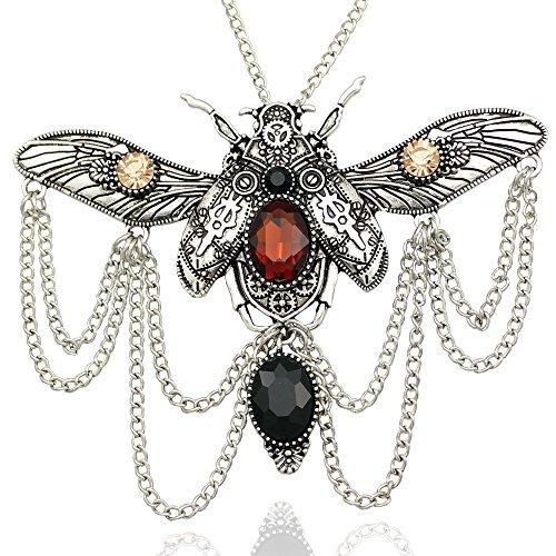 silver-plated-qq-fashion-vintage-victorian-big-khepri-scarab-beetle-watch-clock-hand-gear-cog-steamp