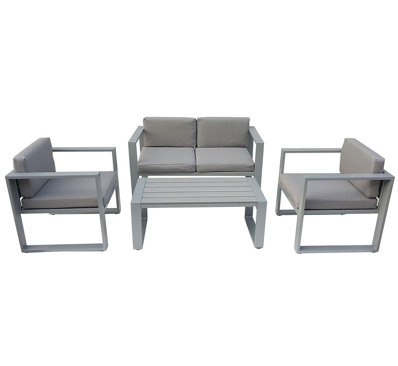 Bentley Garden – Garten-Sitzgarnitur – Tisch + Sofa + 2 Sessel – 4-teilig jetzt bestellen