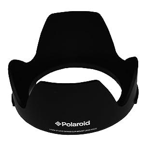 Polaroid serie Studio parasol de 77 mm con sistema de montaje exclusivo con pulsador - no más problemas con los viejos parasoles de rosca - Electrónica Comentarios de clientes y más información