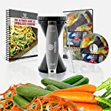 ★ NEW ★ Ultra Sharp VERANO Premium Spiral Vegetable Slicer Complete eBundle - Special Zucchini Spaghetti Maker For Gluten Free, Low Carb, Raw Food and Paleo Diets - Award Winning Design - As Seen On TV!