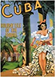 CUBA, HOLIDAY ISLE OF THE TROPICS by Olga Perez - 1949 - Vintage Poster A2 Matte Finish (420 x 594mm)