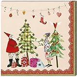 Servietten Weihnachtsbäume