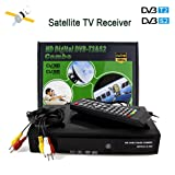 Newest Digital FTA HD 1080P DVB-S2/T2 Combo 2 in 1 Satellite Receiver and Terrestrial TV Tuner Sat Receptor, Supports H.264/MPEG-2/MPEG-4/AVS