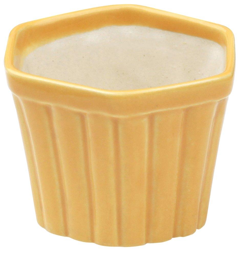 souvnear yellow ceramic 4 5 planter pots indoor outdoor. Black Bedroom Furniture Sets. Home Design Ideas