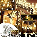 e-community[電池セット]LEDイルミネーションライト防水電池式点灯モード3種室内屋外両用(シャンパンゴールド)(3m30球)