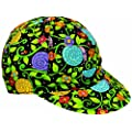 "Mutual Industries 7359-0-0 Kromer Snails Style Welder Cap, Cotton, Length 5"", Width 6"""