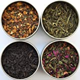 Heavenly Tea Leaves Afternoon Tea Sampler - 4 Bestselling Cans - Approximately 25 Servings of Tea Per Can