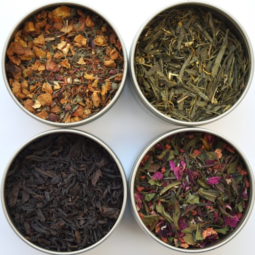 Heavenly Tea Leaves Afternoon Tea Sampler – 4 Bestselling Cans – Approximately 25 Servings of Tea Per Can