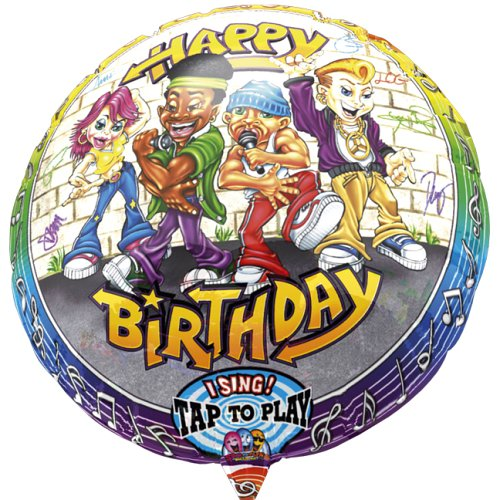 Anagram International 1305001 Rappers Birthday S-A-T Balloon, 28""