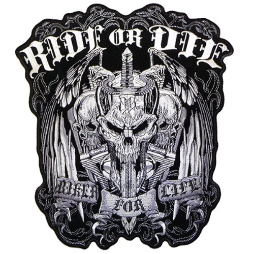 Hot Leathers Ride Or Die Biker For Life Patch (5