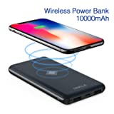 iWALK Wireless Portable Charger, 10000mAh Quick Charge 3.0 & PD 18W Power Bank with 4 Outputs & Dual Inputs, External Battery Compatible with iPhone,iPad,Samsung and More (Color: 10000mah)