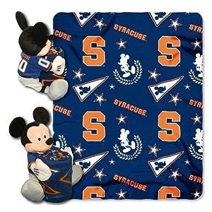 NCAA Syracuse Orange 40x50-Inch Throw with 14-Inch Hugger by Disney