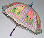 Indian Embroidered Cotton Sun Umbrell...