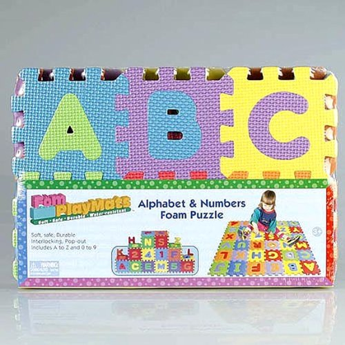 Picture of Play Mat Alphabet Letters Foam Play Mat (B00483CZ9O) (Puzzle Play Mats)
