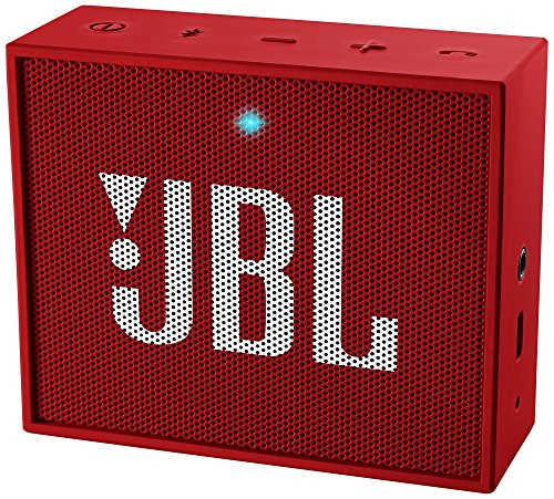 JBL GO Ultra Speaker Bluetooth, Ricaricabile, Portatile con Ingresso Aux-In, Microfono per Chiamate in Vivavoce, Compatibile con Smartphone, Tablet e Dispositivi MP3, Rosso