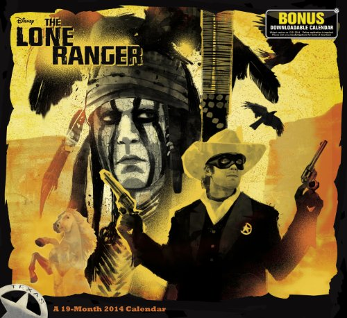 2014 Disney The Lone Ranger Wall Calendar