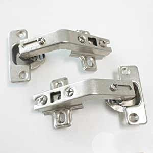 1 pair 135 Degree Corner Kitchen Cabinet/Cupboard Folded/Folden Door Hinges For Combination With Screws (Color: 135 Degree for Combination, Tamaño: 1 Pair(=2pcs))