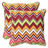 Pillow Perfect Outdoor Zig Zag Throw Pillow, 18.5-Inch, Raspberry, Set of 2 at Sears.com
