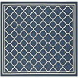 "Safavieh Courtyard Collection CY6918-268 Navy and Beige Square Area Rug, 7 feet 10 inches by 7 feet 10 inches Square (7'10"" x 7'10"" Square)"