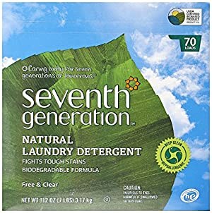 Seventh Generation Powder Laundry Concentrated, Free and Clear