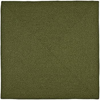 Safavieh Braided Collection BRD315A Hand Woven Green Square Area Rug (8 Square)