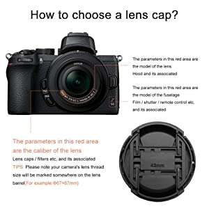 GAOAG 2 Pack 43mm Center Pinch Lens Cap for Fuji Fujifilm XF 35mm f2,XF 23mm f2,Canon EF-M 22mm f2,EF-M 32mm f1.4 and More Lenses with 43mm Filter Thread (Tamaño: 43mm)