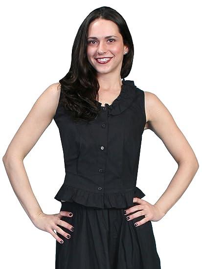 Rangewear By Scully Womens Rangewear Ruffled Sleeveless Top  AT vintagedancer.com