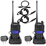 Retevis RT6 Walkie Talkies IP67 Waterproof Dual Band VHF/UHF 136-174Mhz/400-520Mhz 2 Way Radio with Earpiece(2 Pack) and Programming Cable(1 Pack)