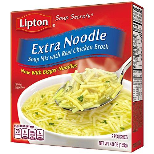 Lipton Soup Secrets Soup Mix, Extra Noodle 4.9 oz (Pack of 12) (Lipton Soup Chicken Noodle compare prices)