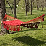 Large Grand Caribbean Nicaraguan Hammock with Spreader Bar and Fringe
