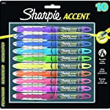 Sharpie Accent Pen Style Liquid Highlighter, Chisel Tip, 10 Pack, Assorted Colors (24415PP)