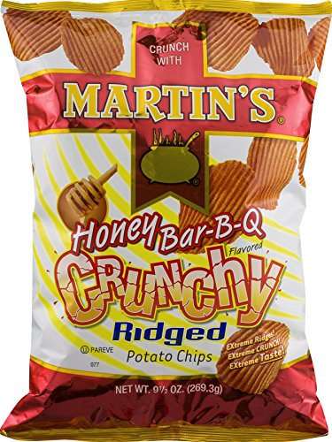 Martin's Honey BBQ Crunchy Ridged Potato Chips 9.5 Ounces (4 Bags) (Martins Bbq Chips compare prices)