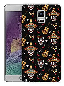 """Humor Gang Mexican GuitarPrinted Designer Mobile Back Cover For """"Samsung Galaxy Note 4"""" (3D, Matte Finish, Premium Quality, Protective Snap On Slim Hard Phone Case, Multi Color)…"""