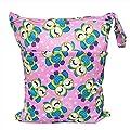Eizur 2-zip Waterproof Baby Diaper Bag Washable Reusable Infant Cloth Multipurpose Nappy Bag Storage Cosmetic Bag Size 30*36cm by Eizur
