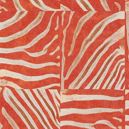 african-queen-arancione-zebra-quadrati-pasta-lavabile-pelle-animale-la-parete-vinile-498516