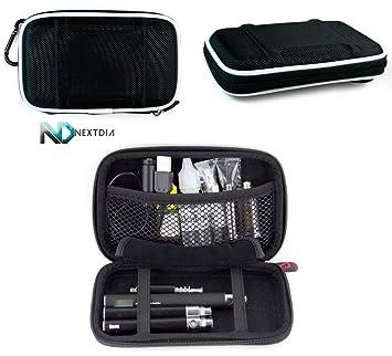 Travel Vape Case compatible with G Pen Herbal Vaporizer Grenco Snoop Dogg |SLIM BLACK NYLON SEMI-HARD SHELL| + Carabiner
