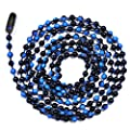 3 Foot Length Ball Chains, #6 Size, Blue Denim Enamel Color Mix, with Connectors (3 Pack) provided by Ball Chain Manufacturing Co., Inc.