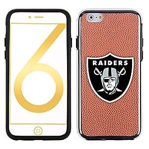 NFL Oakland Raiders Classic Football Pebble Grain Feel No Wordmark iPhone 6 Case, Brown