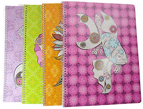 New-Leaf-Reflections-4-Assorted-1-Subject-Notebook-100-Recycled-80-Sheets-Wide-Rule-8-x-105-Inches