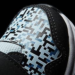 adidas Performance Snice 4 CF I Sneaker, Black/Ice Blue Craft/Blue Fabric, 5 M US Infant