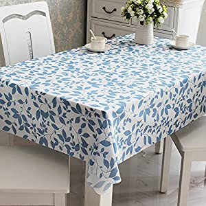 waterproof leaves pattern kitchen dinning table cover