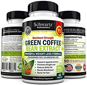 Green Coffee Bean Extract 800mg With Gca - 50 Chlorogenic Acid Buy 3 1 Is Free Use Code Grcb3g1f At Checkout Extra Strength Formula Suppresses Appetite Boosts Weight Loss Naturally Extreme Fat Burner Diet Pills For Men Women - As Seen On Tv Green Coffee B