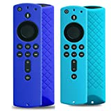 2 Pack Covers for All-New Alexa Voice Remote for Fire TV Stick 4K, Fire TV Stick (2nd Gen), Fire TV (3rd Gen) Shockproof Protective Silicone Case (Sky+Blue) (Color: Sky+Blue)