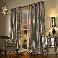 "Kylie Minogue Iliana Praline 90x72"" 229x183cm Lined Velvet Ring Top Curtains by Kylie Minogue"