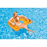 "Intex Sit N Float Inflatable Lounge, 60"" X 39"", (Colors May Vary), 1 Pack"