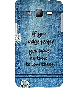 PrintDhaba QUOTE D-7072 Back Case Cover for SAMSUNG GALAXY J2 (Multi-Coloured)